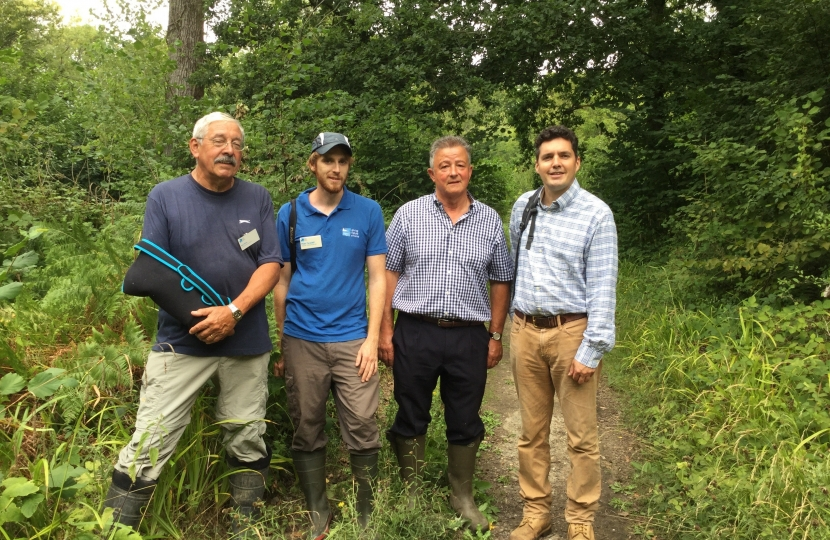 Huw visiting RSPB Fore Wood