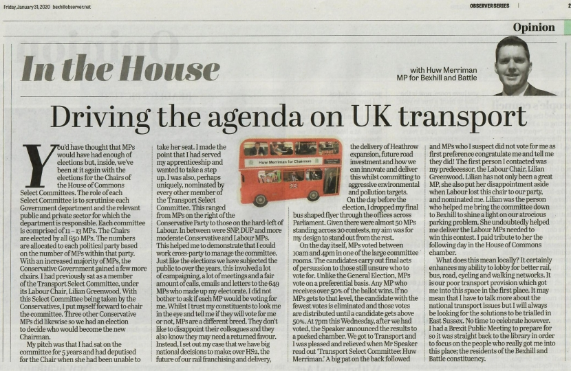 Transport Select Committee Article