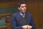 Huw asks a question to the Minister of State for the Department of Health on the NHS Winter Crisis