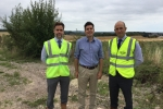 From left, Doug Law, Bovis Homes' regional land director; Bexhill MP Huw Merriman; and Matt Charnock, Bovis Homes' strategic development director, on the north Bexhill location