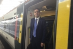 Huw on commute